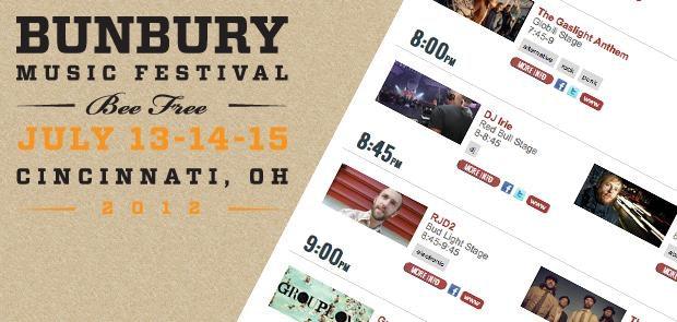 Bunbury Music Festival :: CincyMusic.com Schedule