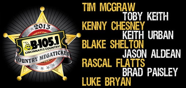 Riverbend Music Center Announces 2013 Country Megaticket