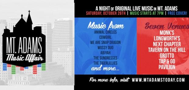FREE Live Original Music at 7 Venues in Mt. Adams