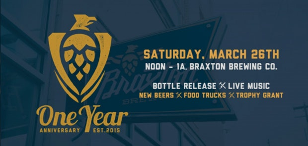 Braxton Brewing Company Throwing a Huge Birthday Bash