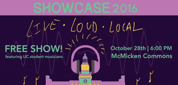 This Friday, October 28th the Programs and Activities Council at the University of Cincinnati has put together a FREE showcase of local bands and artists!