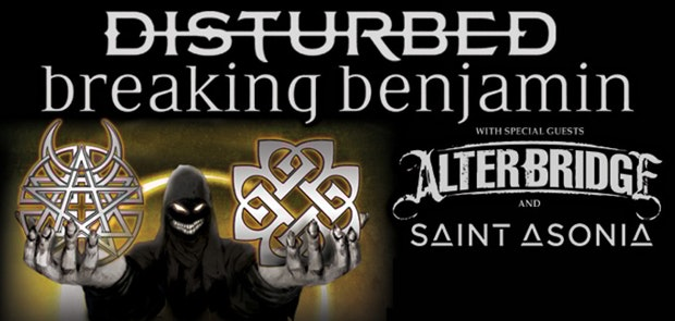 Enter To Win Tickets To see Disturbed & Breaking Benjamin