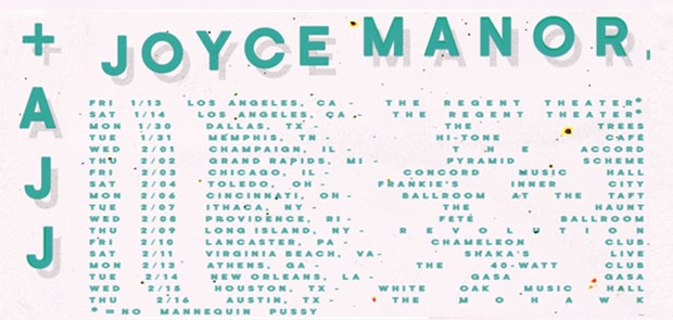 Enter for a shot at a pair of tickets to see Joyce Manor+ AJJ atThe Taft Theatre (Ballroom)on February 6!