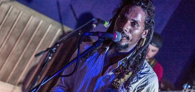 Jonny Dread and the Mystiks rocked the side stage and showed many that they should have been playing on the big stage of the Reggae Fest featuring The Original Wailers at the Thompson House in Newport, Ky.