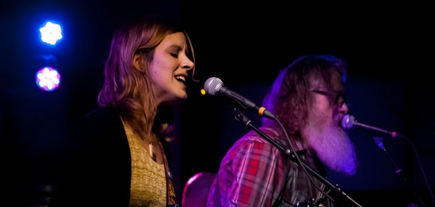 Wussy and Bobby Bare Jr at The Woodward Theater on NYE :: Courtesy of Michael Kearns
